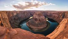 USA, Arizona, Panoramic View Of Bendhorse Shoe
