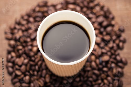 Black Coffee in Paper Cup