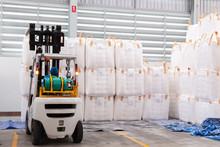 Forklift Is Handling Jumbo Bag...