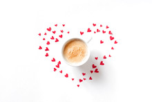 Coffee With Red Hearts
