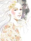 90s piękna dziewczyny portreta portreta kobieta - 241428214