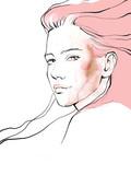 Młody piękny kobiety mody ilustraci akwareli remisu portret - 241428648