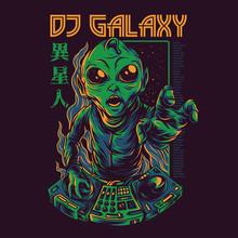 Dj Galaxy Illustration