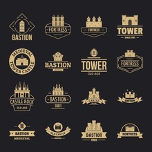 Towers Castles Logo Icons Set....