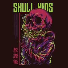 Skull Kids Illustration