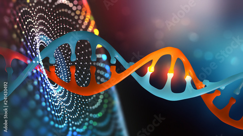 Fotografering  DNA helix