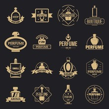 Perfume Bottles Logo Icons Set...