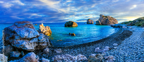 Garden Poster Cyprus Best beaches of Cyprus - Petra tou Romiou, famous as a birthplace of Aphrodite