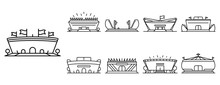 Arena Icon Set. Outline Set Of Arena Vector Icons For Web Design Isolated On White Background