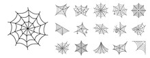 Spider Icon Set. Outline Set O...