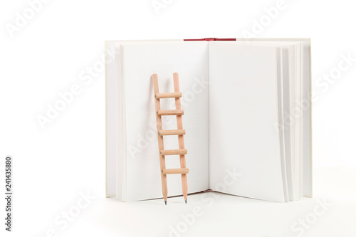 Photo  ladder and book