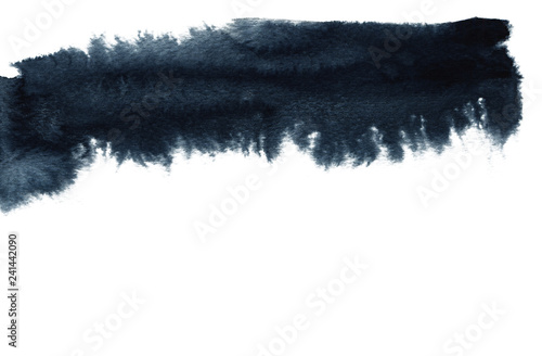 Abstract watercolor landscape blot painted background. Texture paper.