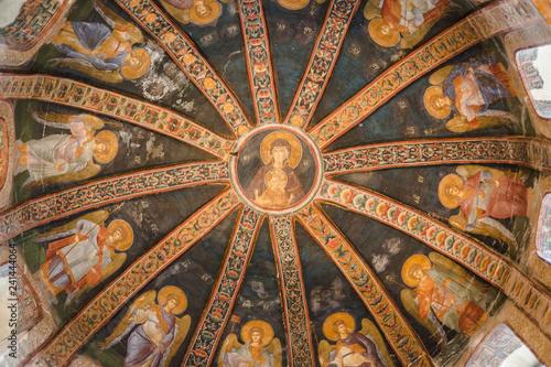 Christian mosaic art in Istanbul, Turkey Canvas Print