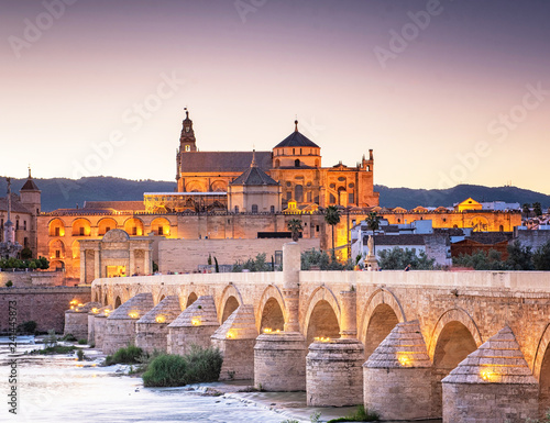 Roman Bridge and Guadalquivir river, Great Mosque, Cordoba