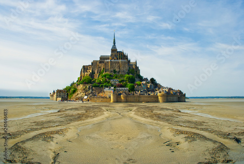 Fotografie, Obraz  Mont Saint Michel in Normandy, a popular UNESCO world heritage site in normandy,