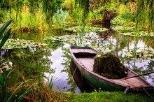 Monet's Gardens And Lake With ...