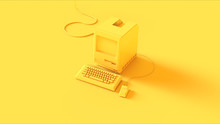 Yellow Vintage Computer Keyboa...