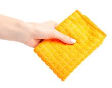 The Orange Rag Cloth In Hand O...