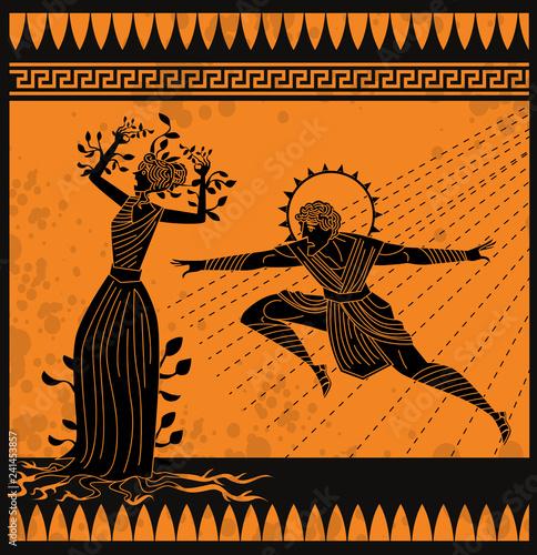 Canvas Print daphne transformation and apollo greek myth
