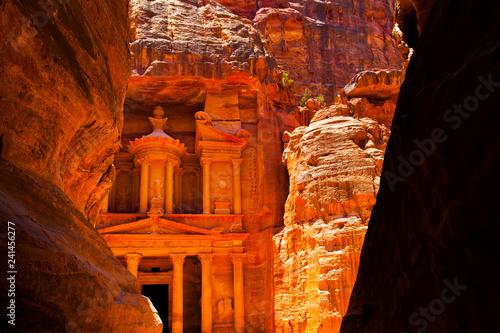 Fotografie, Obraz Al-Khazneh temple in Petra