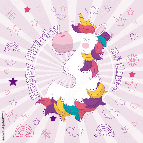In de dag Kinderkamer happy birthday number three