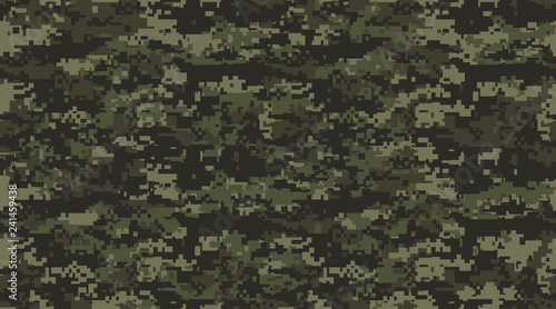 Print Texture military camouflage seamless pattern. Abstract army and hunting masking ornament