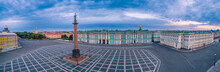 Saint Petersburg. Panorama Of Russian Cities. Architecture Of Petersburg. Palace Square. Panorama Of St. Petersburg. Hermitage. Poster Of Russian Cities. City From A Height.