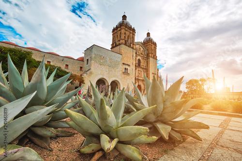 Landmark Santo Domingo Cathedral in historic Oaxaca city center