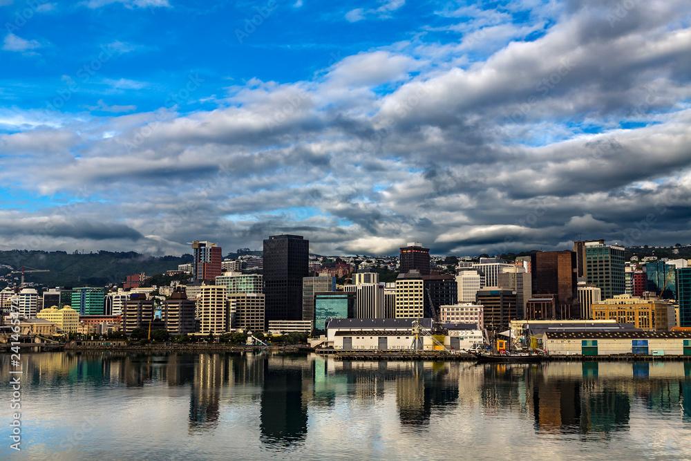 Fototapety, obrazy: New Zealand. Wellington, the capital city. The Waterfront
