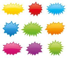 Starburst Coloured Speech Bubb...
