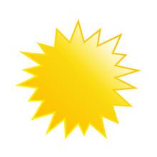 Starburst Yellow Speech Bubble Vector