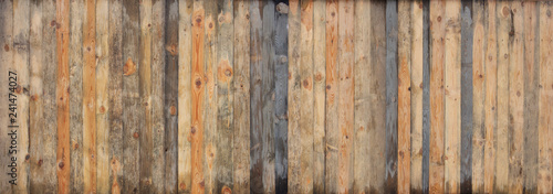Brown wood colored plank wall texture background - 241474027