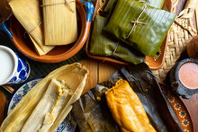Mexican Tamal In Banana And Co...