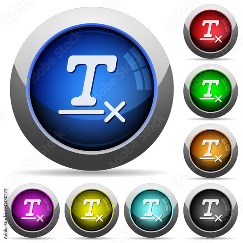 Fotografía  Clear text format round glossy buttons