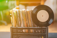 Crate Digging In Vinyl Record Collection B