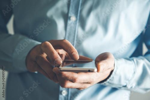 Photo  hand smart phone