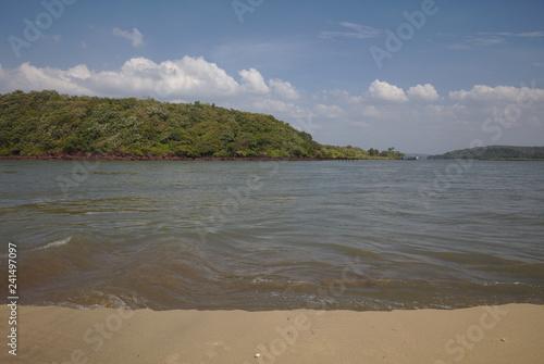 Fotografie, Obraz  3071 River seen from sandbank in Goa