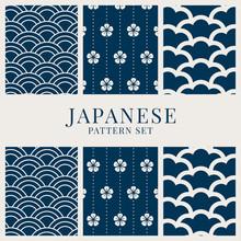 Japanese-inspired Pattern Vect...