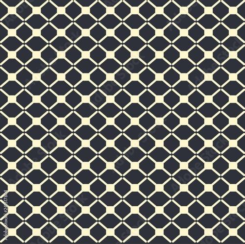 Fotografia  Geometric pattern vector. Blue and white line background.