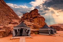 Tourist Tents In Wadi Rum Dess...