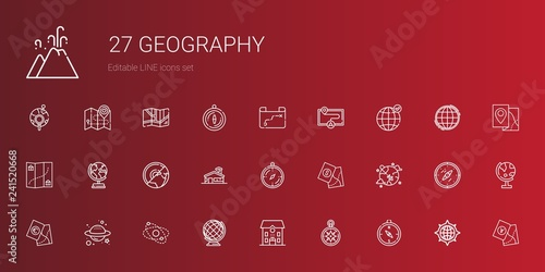 Foto  geography icons set