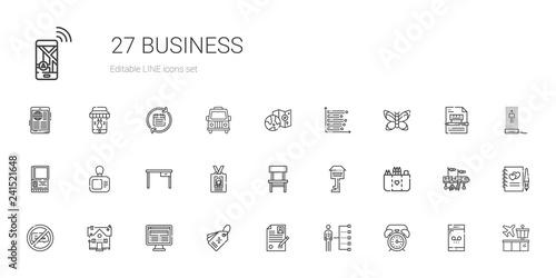 Cuadros en Lienzo business icons set