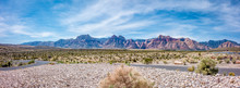 Panoramic View Of Red Rock Canyon National Park From Visitors Center