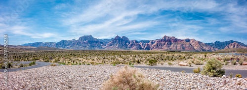 Panoramic View of Red Rock Canyon National Park from Visitors Center Canvas Print