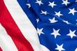 Close-up of waving American flag