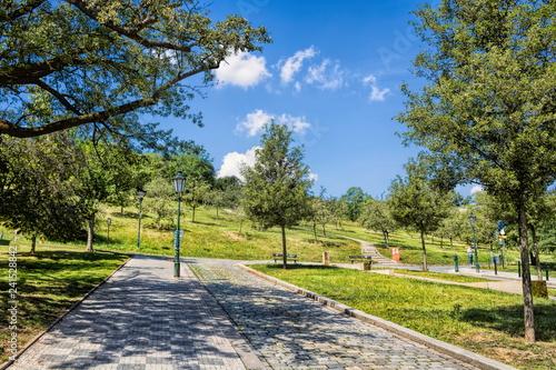 In de dag Centraal Europa Prag, Stadtpark