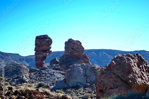Tuinposter Turkoois Volcanic landscape of the volcano Teide Valley on Tenerife Canary Islands Spain