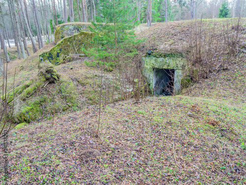 Photo  entrance to the Anti-aircraft Battery, bunker