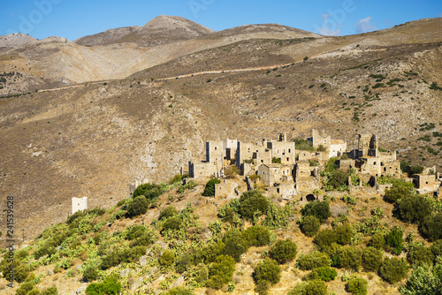Spoed Foto op Canvas Historisch geb. Tower houses in Vathia Greece Mani Peninsula
