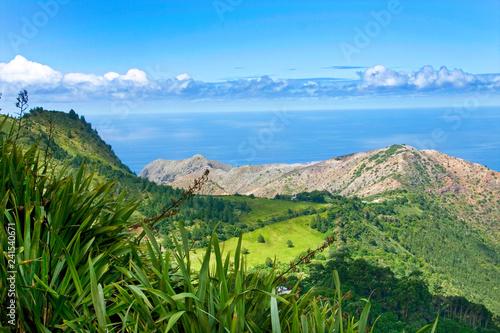 Foto auf AluDibond Blau Landscape of St Helena Island.